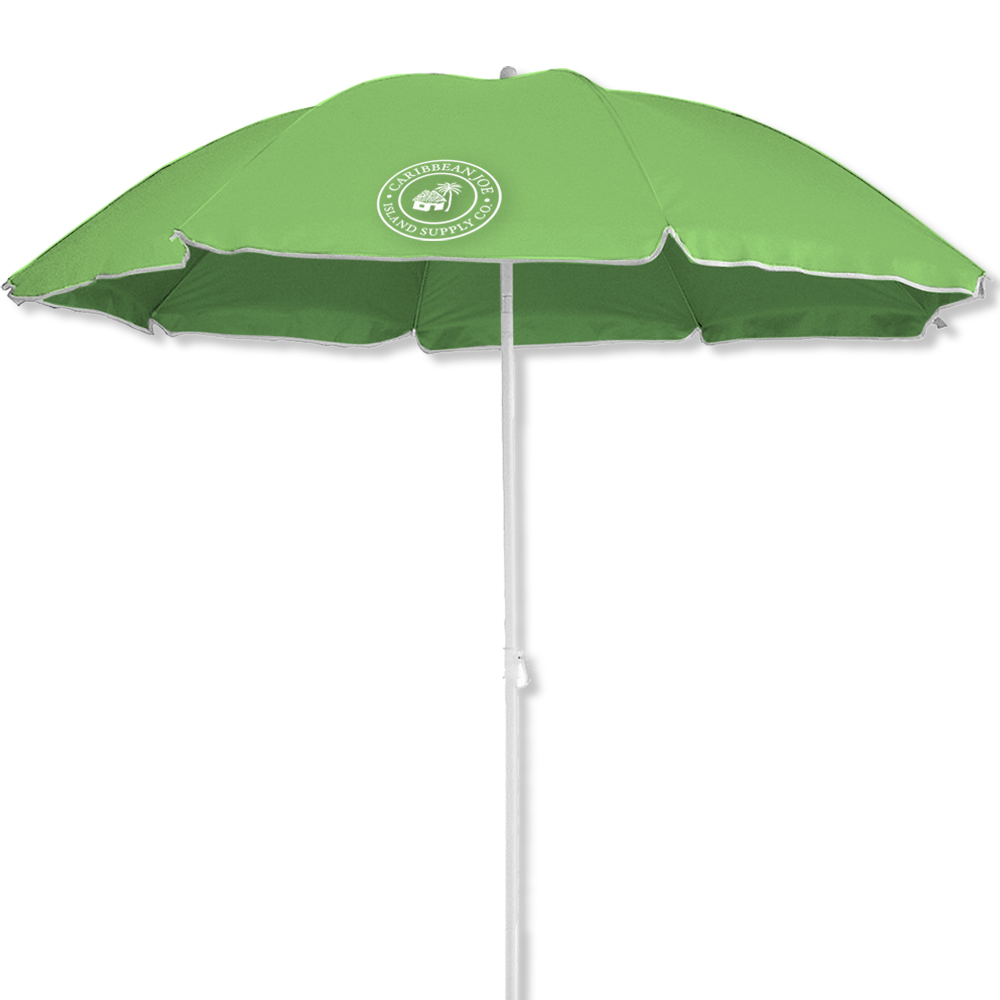 Caribbean Joe 6.5 Ft Beach Umbrella With UV